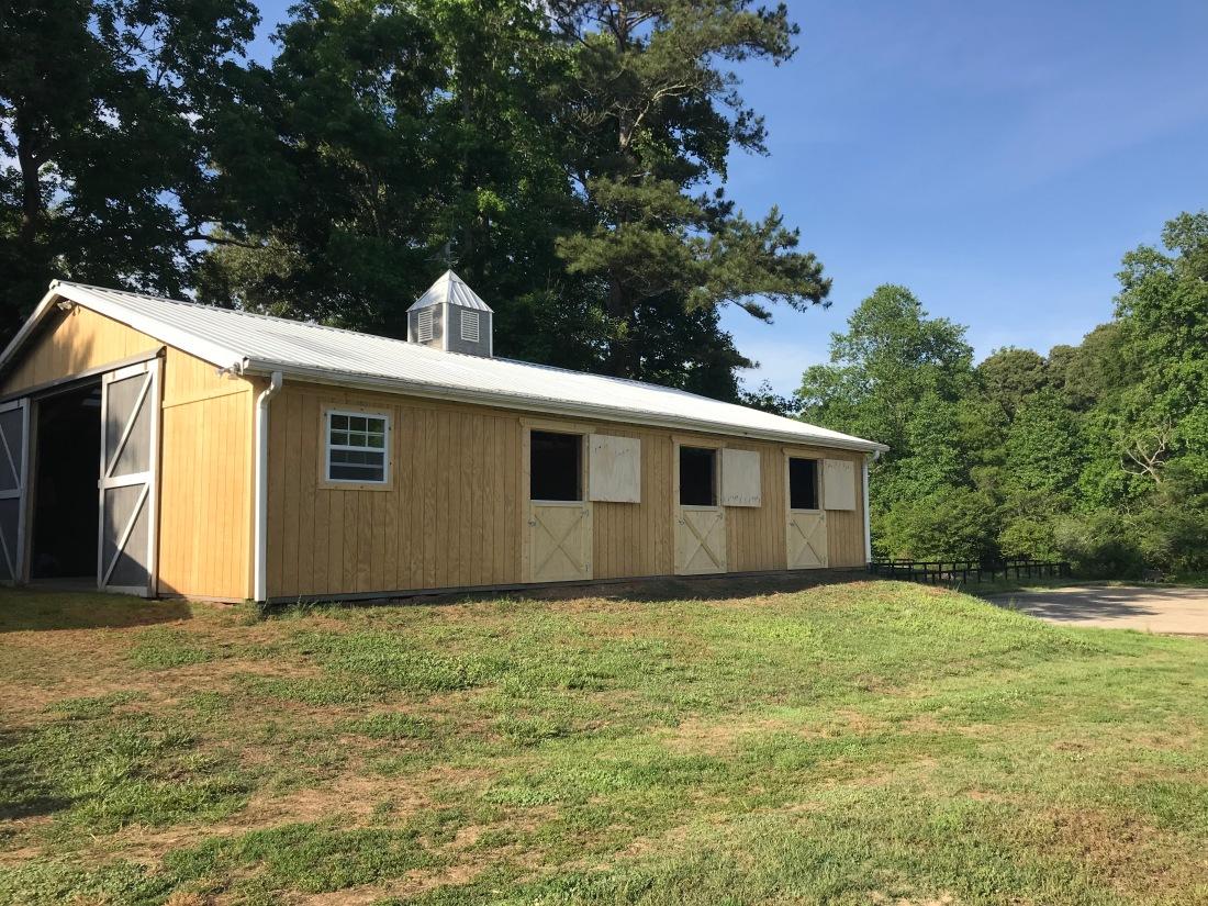 New barn top doors open