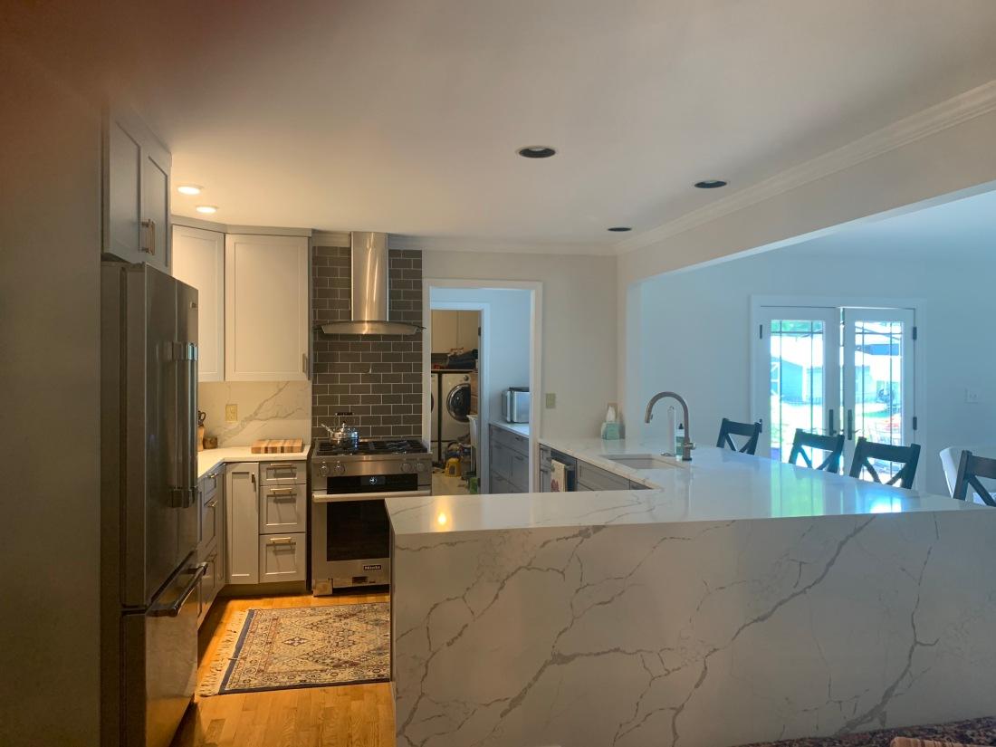 New kitchen with backsplash